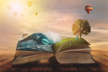 Le livre et l'arbre, symbole de l'imaginaire