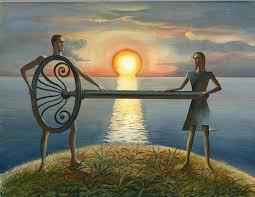 La créativité du rêve met en scène un couple relié par une clé
