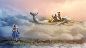 Au cours de la séance, Alice rencontre un royaume baleine éthéré.